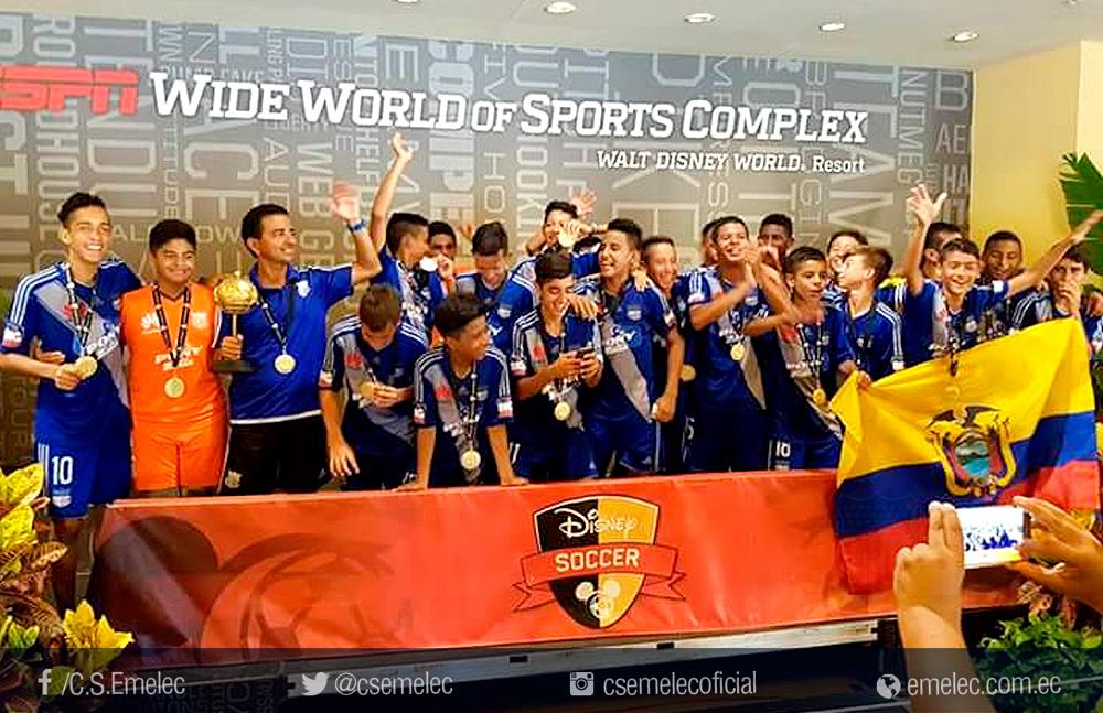 Emelec Sub-14 se coronó campeón de torneo internacional en Estados Unidos