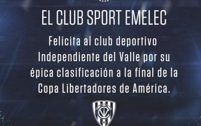Emelec felicita a Independiente del Valle