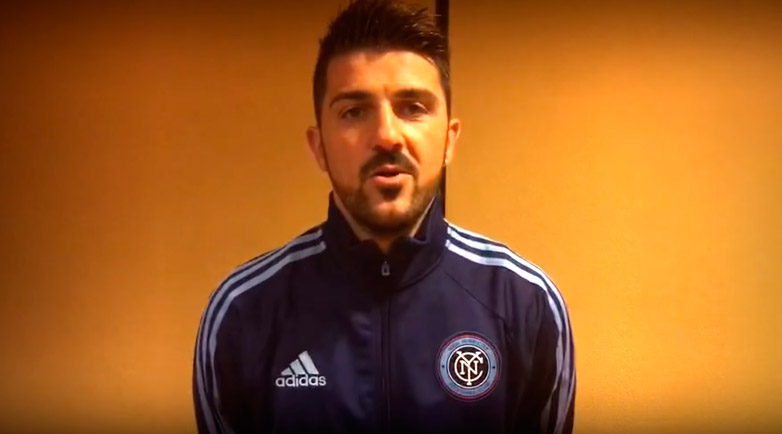 "David Villa: ""We are very excited to play against Emelec"""
