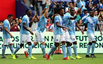 Un contundente Emelec derrotó 4-1 a Deportivo Cuenca