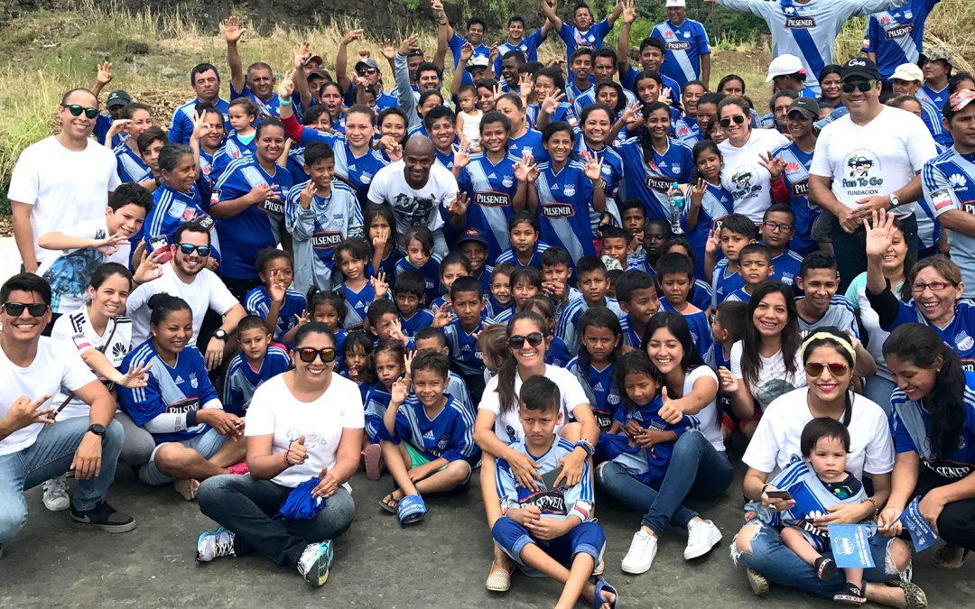 Fundación Pan To Go llevó alegría a 6000 emelecistas de escasos recursos