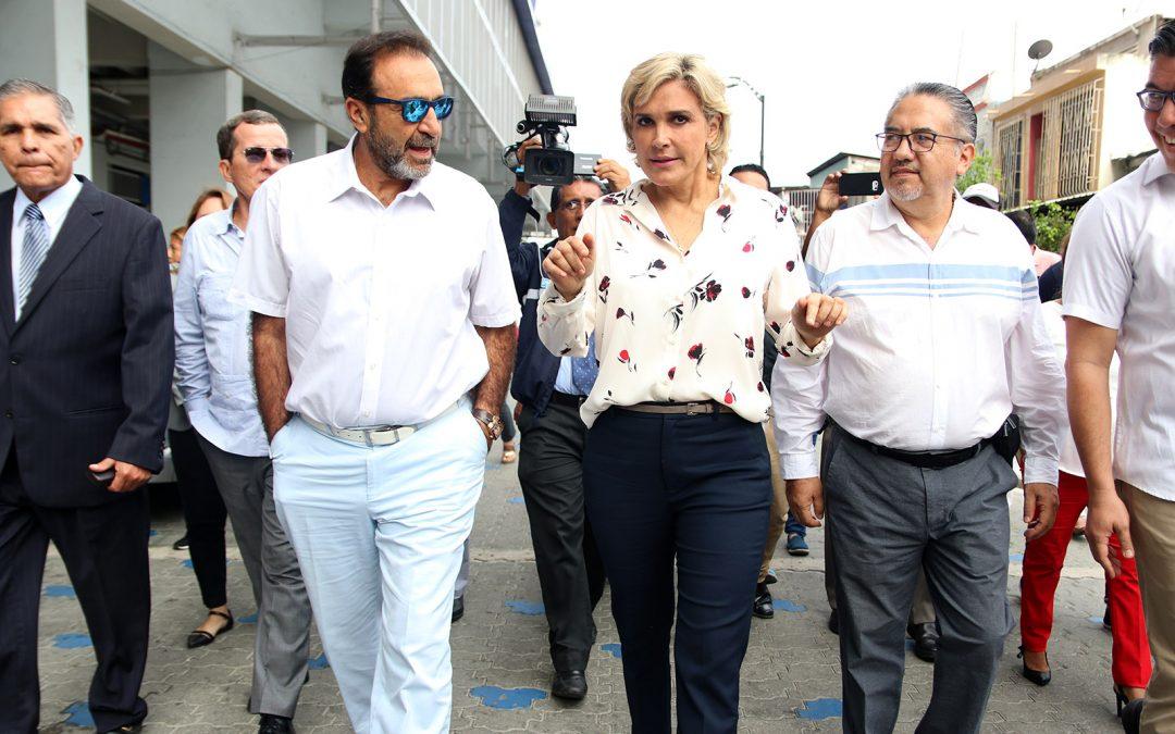 Con presencia de alcaldesa de Guayaquil, se hizo la entrega de la obra de regeneración urbana en los alrededores de nuestro estadio