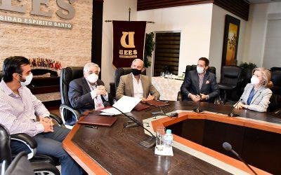 Emelec firma convenio de cooperación institucional con la UEES