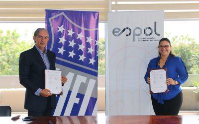 Emelec firma convenio con la Espol.